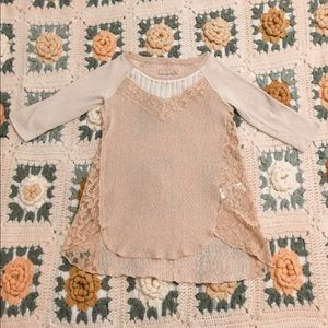 free people lacy sweater top